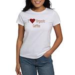 I (Heart) Organic Coffee Women's T-Shirt