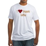 I (Heart) Organic Coffee Fitted T-Shirt
