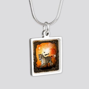 Lioness in a frame Necklaces