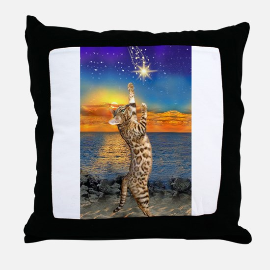 The Bengal Cat Throw Pillow