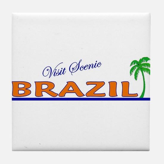 Visit Scenic Brazil Tile Coaster