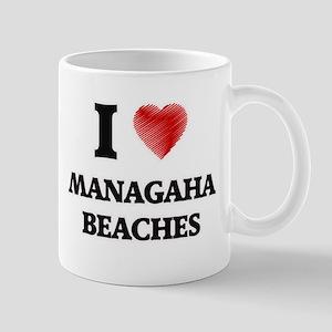 I love Managaha Beaches Northern Mariana Isla Mugs