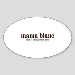 Mama Blanc Oval Sticker