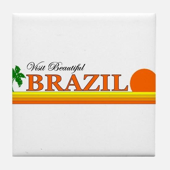 Visit Beautiful Brazil Tile Coaster