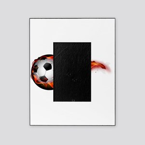 Soccer ball on fire Picture Frame