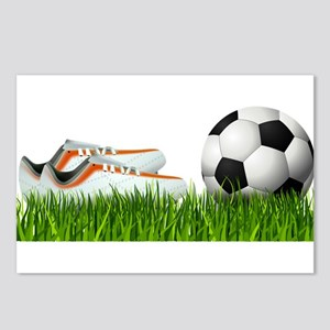 Orange soccer shoes with Postcards (Package of 8)