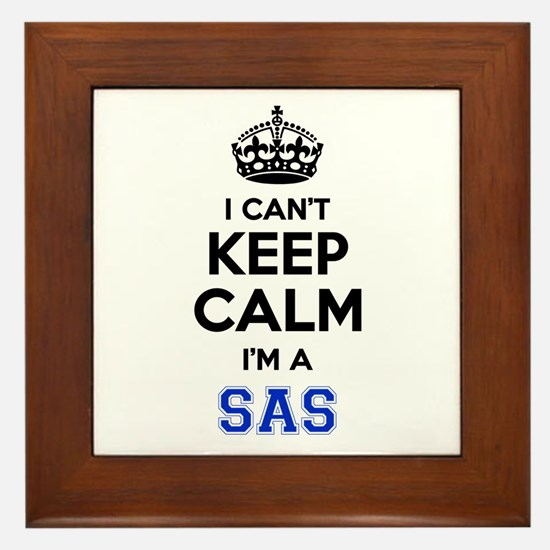 I can't keep calm Im SAS Framed Tile