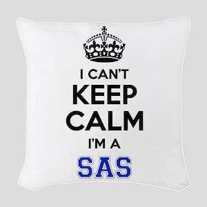 I can't keep calm Im SAS Woven Throw Pillow