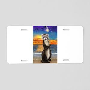 Ferret The Beach Life Aluminum License Plate