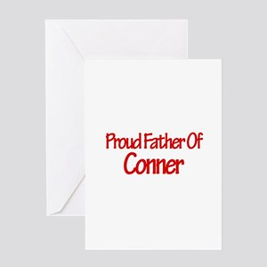 Proud Father of Conner Greeting Card