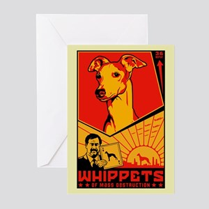 Whippets of Mass Destruction Greeting Cards 6) Gre