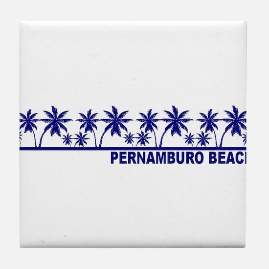 Pernambuco Beach Tile Coaster