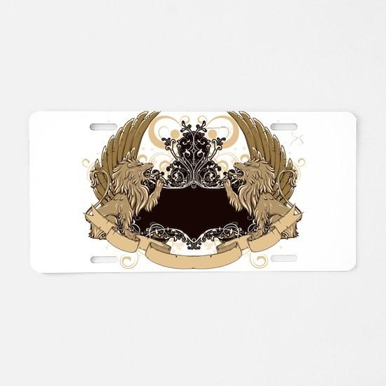 Grunge griffin emblems Aluminum License Plate