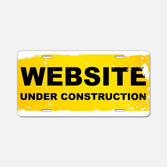 Cute Web page Aluminum License Plate