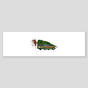 Bringing The Tree Home Bumper Sticker