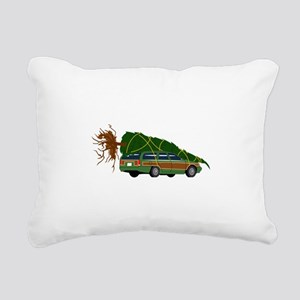 Bringing The Tree Home Rectangular Canvas Pillow