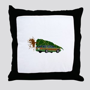 Bringing The Tree Home Throw Pillow