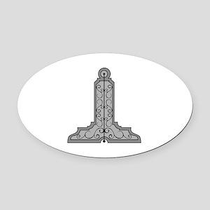 Masonic Level Oval Car Magnet