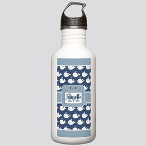 Blue Whimsical Whale P Stainless Water Bottle 1.0L