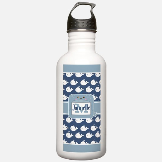 Blue Whimsical Whale P Water Bottle