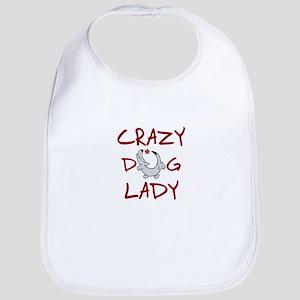 crazy dog lady Bib
