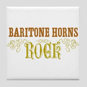 Baritone Horns Tile Coaster