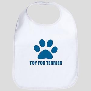 Toy Fox Terrier Dog Designs Cotton Baby Bib