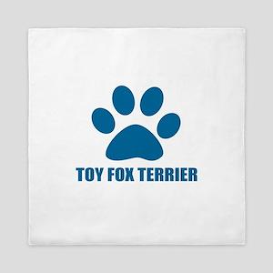 Toy Fox Terrier Dog Designs Queen Duvet