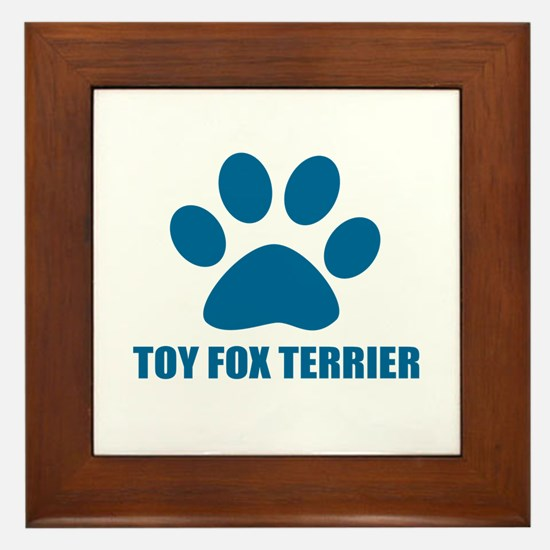 Toy Fox Terrier Dog Designs Framed Tile