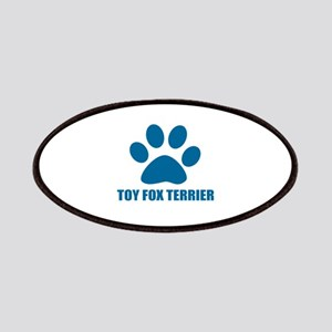 Toy Fox Terrier Dog Designs Patch