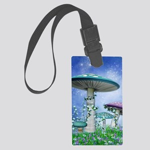 Spring Mushrooms Large Luggage Tag