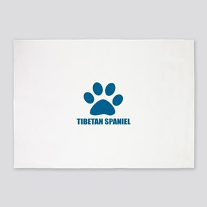 Tibetan Spaniel Dog Designs 5'x7'Area Rug