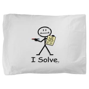 Crossword Puzzle Stick Figure Pillow Sham