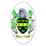 Van der Eycke Sticker (Oval 10 pk)