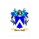 Van der Brule Sticker (Rectangle 50 pk)