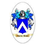 Van der Brule Sticker (Oval)