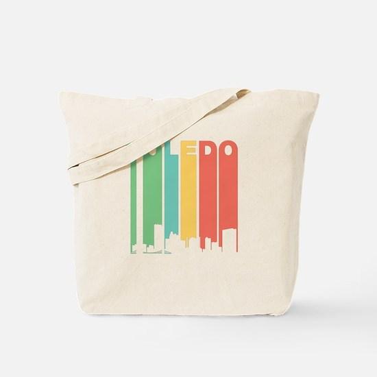 Vintage Toledo Cityscape Tote Bag