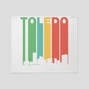 Vintage Toledo Cityscape Throw Blanket