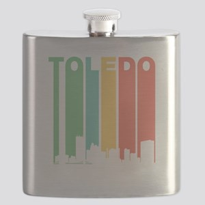 Vintage Toledo Cityscape Flask