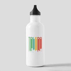 Vintage Toledo Cityscape Water Bottle