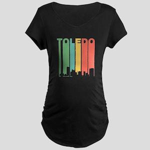 Vintage Toledo Cityscape Maternity T-Shirt