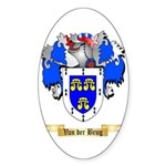 Van der Brug Sticker (Oval)