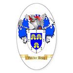 Van der Brug Sticker (Oval 10 pk)
