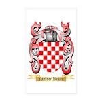 Van der Beken Sticker (Rectangle 10 pk)