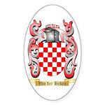 Van der Beken Sticker (Oval 50 pk)