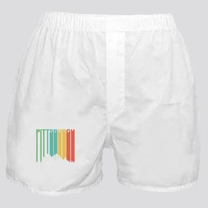 Vintage Pittsburgh Cityscape Boxer Shorts