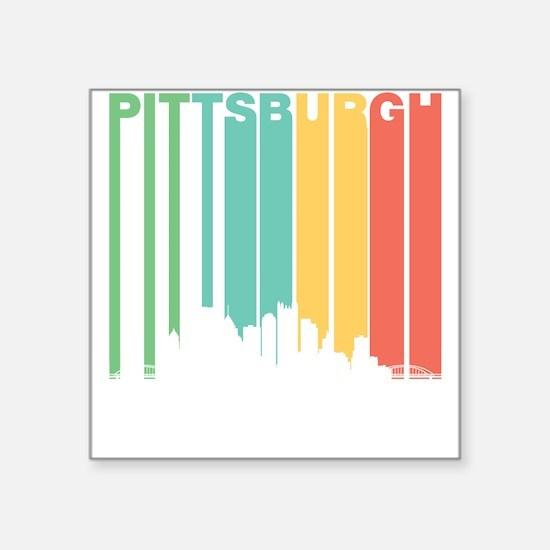 Vintage Pittsburgh Cityscape Sticker