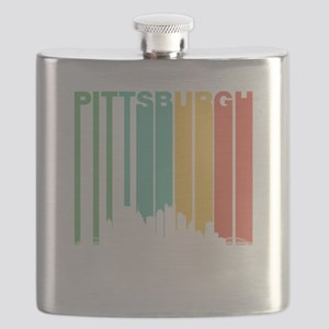 Vintage Pittsburgh Cityscape Flask