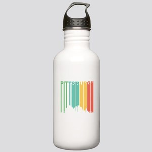 Vintage Pittsburgh Cityscape Water Bottle