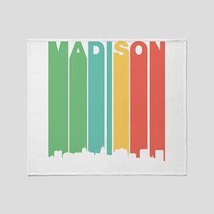 Vintage Madison Cityscape Throw Blanket